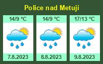 Počasí Police nad Metují - Slunečno.cz