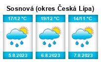 Počasí Sosnová (okres Česká Lípa) - Slunečno.cz