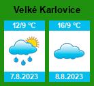 Počasí Velké Karlovice - Slunečno.cz