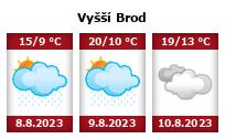 Počasí Vyšší Brod - Slunečno.cz