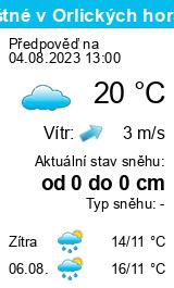 Počasí Jílemnice - Slunečno.cz