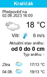 Počasí Krkonoše - Slunečno.cz