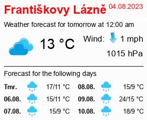 Počasí Františkovy Lázně - Slunečno.cz