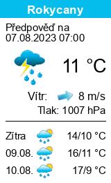 Počasí Rokycany - Slunečno.cz