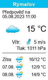 počasí Rýmařov