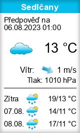 Počasí Sedlčany - Slunečno.cz