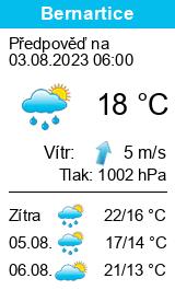 Počasí Bernartice (okres Jeseník) - Slunečno.cz