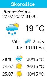 Počasí Skorošice - Slunečno.cz