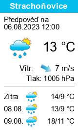 Počasí Strachoňovice - Slunečno.cz