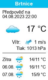Počasí Brtnice - Slunečno.cz