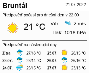 Počasí Bruntál - Slunečno.cz