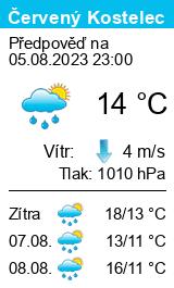 Počasí Červený Kostelec - Slunečno.cz
