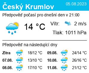 Počasí Český Krumlov - Slunečno.cz