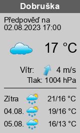 Počasí Dobruška - Slunečno.cz