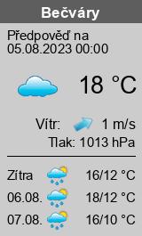 Počasí Bečváry - Slunečno.cz