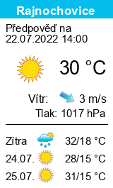 Počasí Rajnochovice - Slunečno.cz