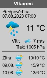 Počasí Vlkaneč - Slunečno.cz