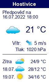 Počasí Hostivice - Slunečno.cz