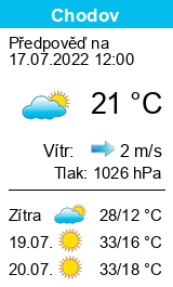 Počasí Chodov (okres Sokolov) - Slunečno.cz