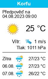 Počasí Korfu - Slunečno.cz