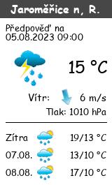 Počasí Jaroměřice nad Rokytnou - Slunečno.cz