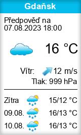 Počasí Gdaňsk - Slunečno.cz