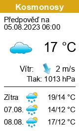 Počasí Kosmonosy - Slunečno.cz