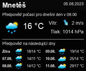 Počasí Mnetěš - Slunečno.cz