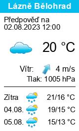 Počasí Lázně Bělohrad - Slunečno.cz