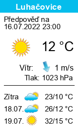 Počasí Luhačovice - Slunečno.cz
