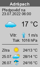 Počasí Adršpach - Slunečno.cz