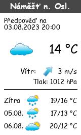Počasí Náměšť nad Oslavou - Slunečno.cz