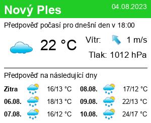 Počasí Nový Ples - Slunečno.cz