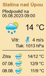 Počasí Slatina nadÚpou - Slunečno.cz