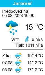 Počasí Jaroměř - Slunečno.cz