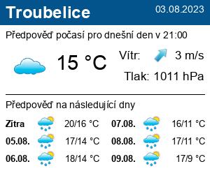 Počasí Troubelice - Slunečno.cz