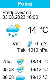 Počasí Polná - Slunečno.cz