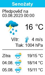 Počasí Senožaty - Slunečno.cz