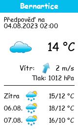 Počasí Bernartice (okres Písek) - Slunečno.cz
