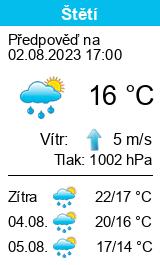 Počasí Štětí - Slunečno.cz