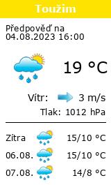 Počasí Toužim - Slunečno.cz