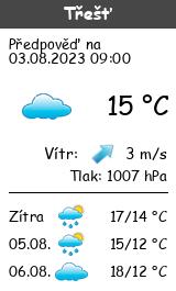 Počasí Třešť - Slunečno.cz