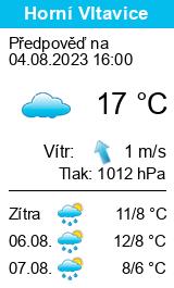 Počasí Horní Vltavice - Slunečno.cz