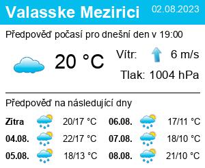 Předpověď Počasí Valasske Mezirici dnes i předpověď 2b0a5fe986