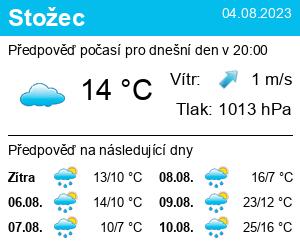 Počasí Stožec - Slunečno.cz