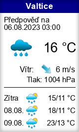 Počasí Valtice - Slunečno.cz
