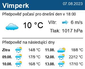 Počasí Vimperk - Slunečno.cz