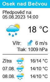 Počasí Osek nad Bečvou - Slunečno.cz