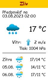 Počasí Zliv - Slunečno.cz