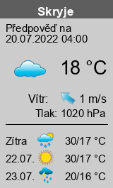 Počasí Skryje - Slunečno.cz